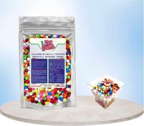 Захарни дражета с млечен шоколад Дон Джелато