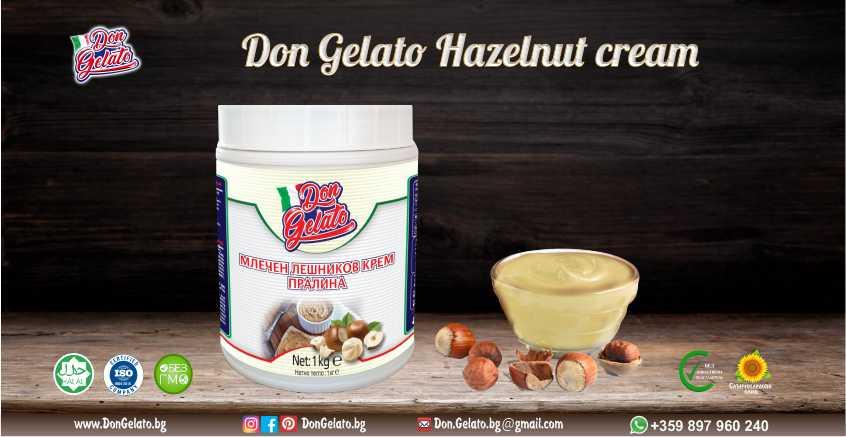 Млечен лешников крем - пралина Дон Джелато