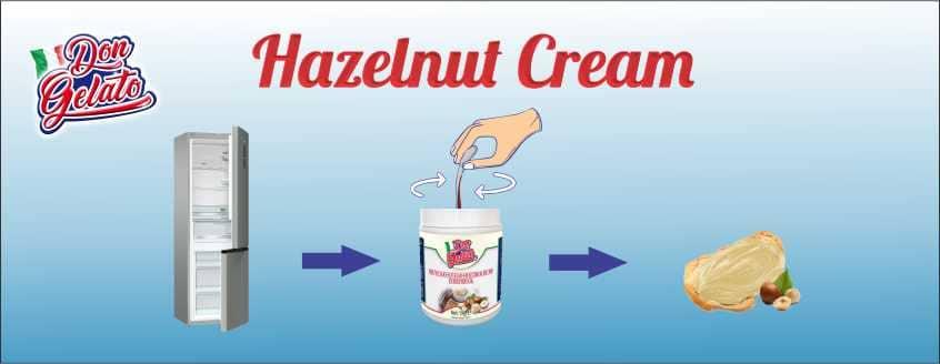 Начин на употреба млечен лешников крем Дон Джелато