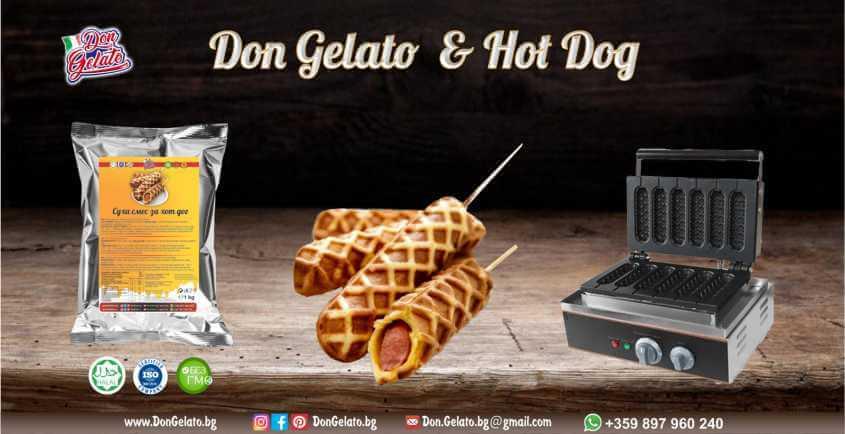 Суха смес за хот-дог Дон Джелато
