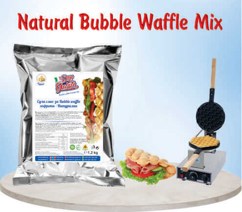 Суха смес за гофрети Bubble Waffle – НАТУРАЛНА Дон Джелато