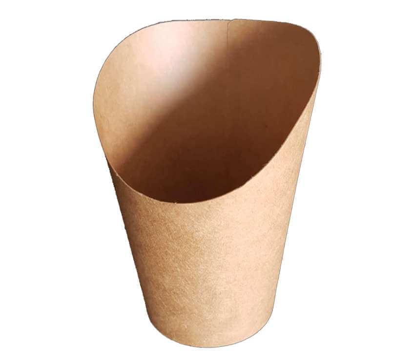 Картонени чаши за гофрети Bubble waffle